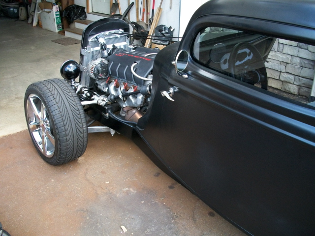 ford coupe c6 chassis swap