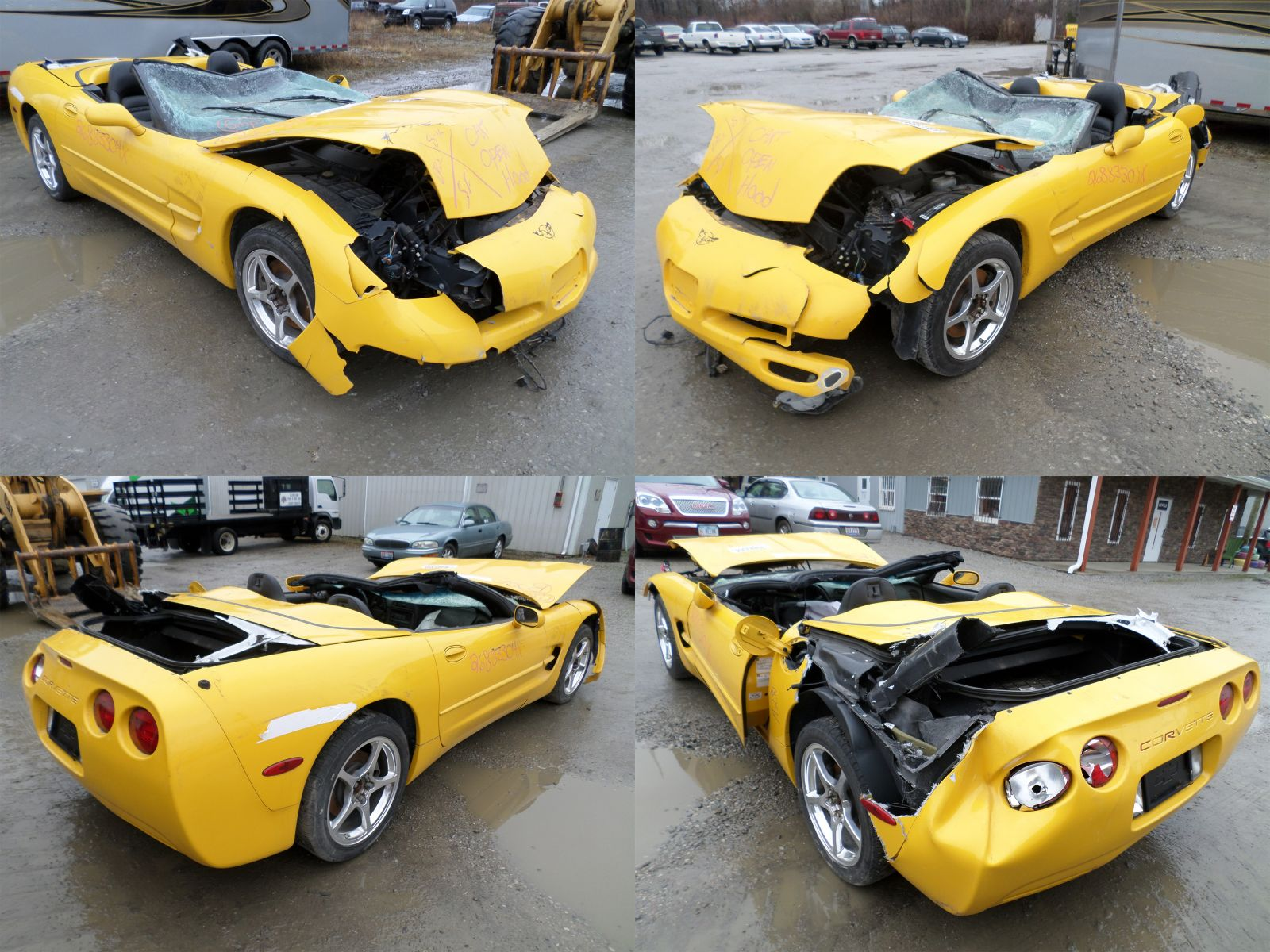 Wrecked Cars For Sale >> 2002 Yellow Chevrolet Corvette C5 Convertible - Cleveland Power & Performance
