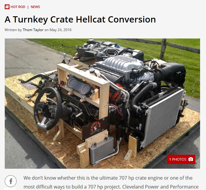 Hellcat turnkey engine pallet