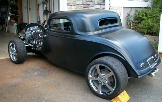 Glen's 1930's Ford Coupe on C6 Corvette Chassis