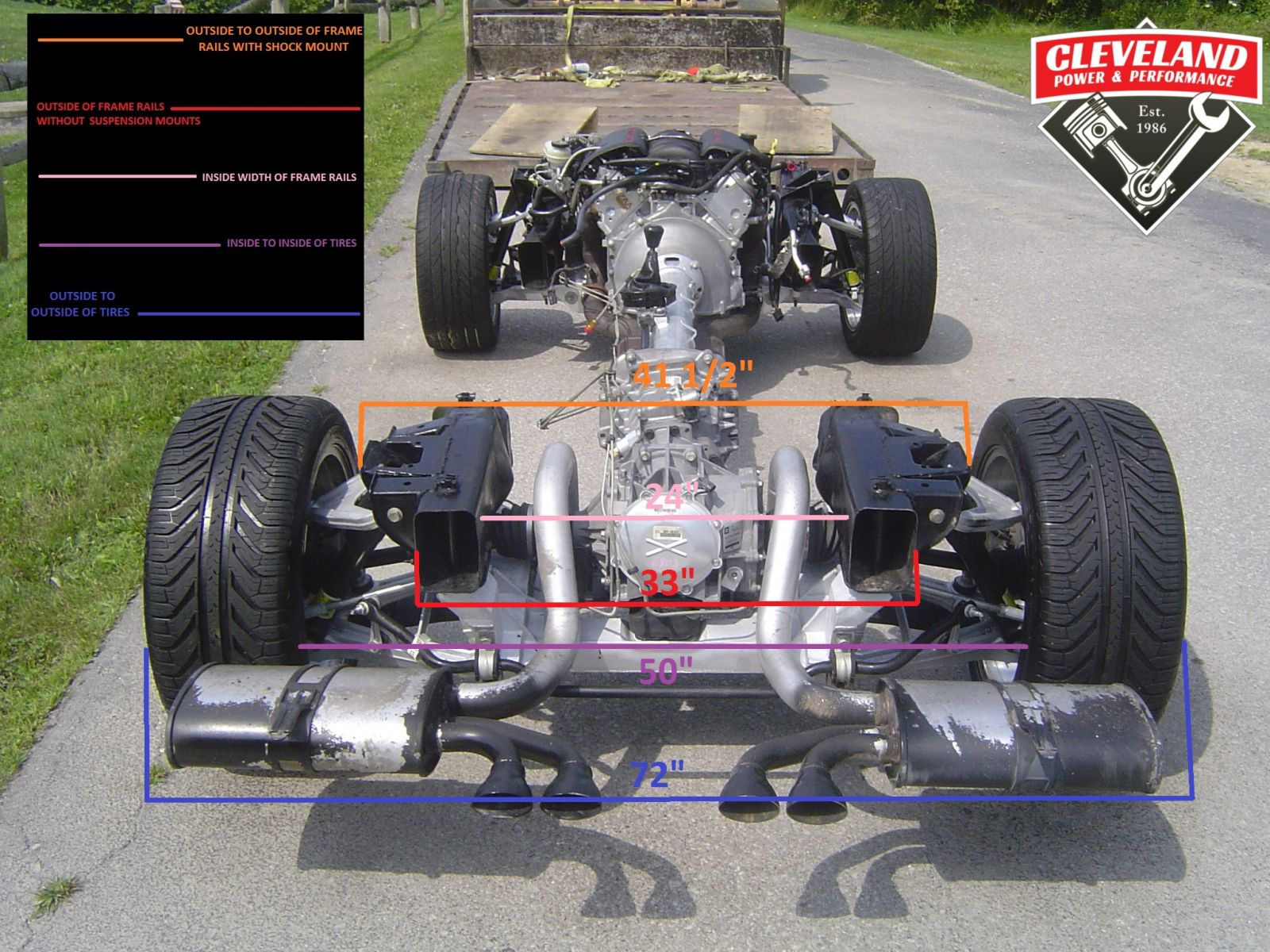 Wrecked Cars For Sale >> Corvette Rolling Chassis Measurements - Cleveland Power & Performance