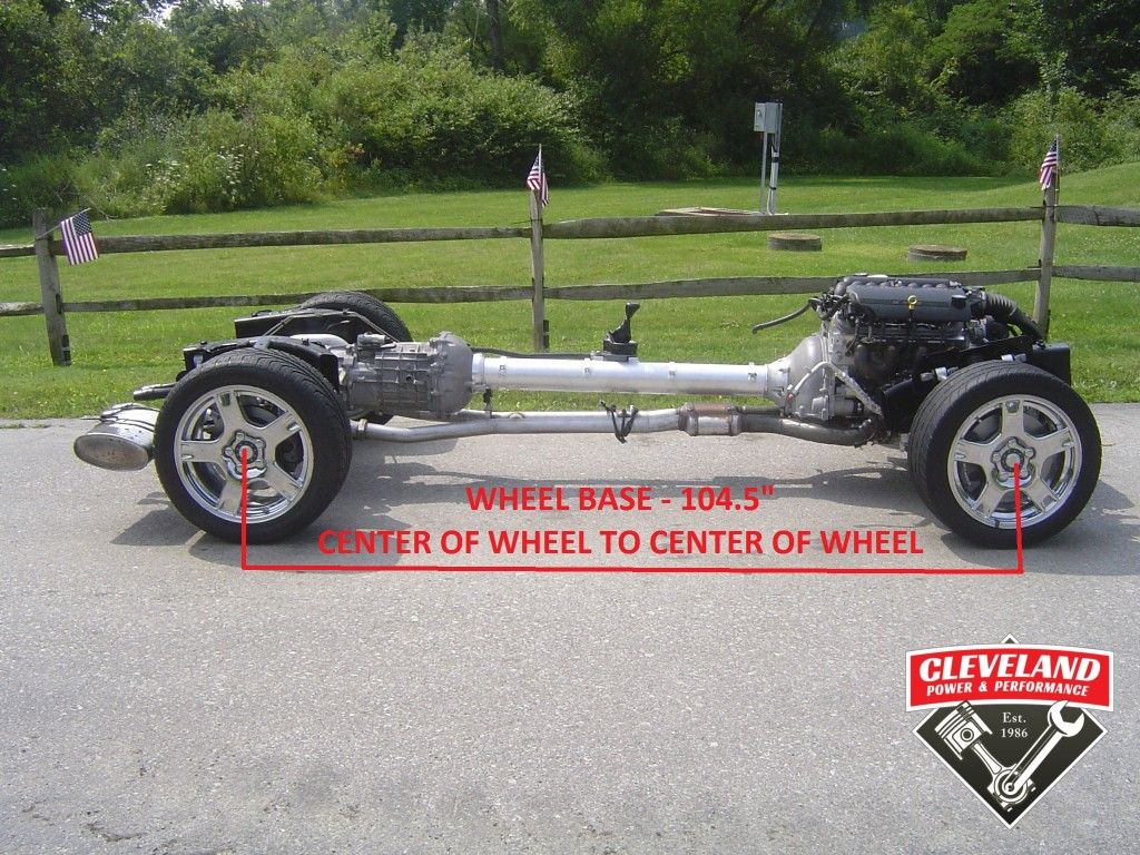 C5 corvette rolling chassis measurements