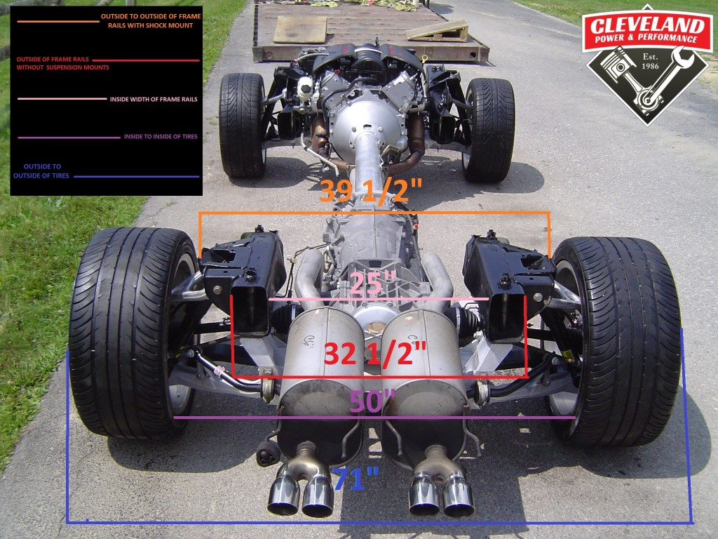 C6 corvette rolling chassis measurements