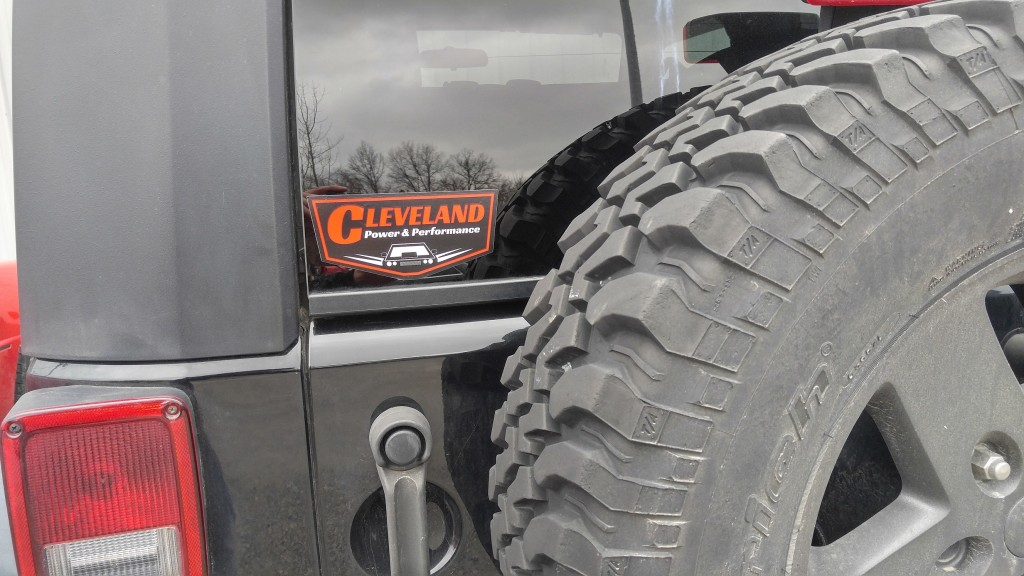 cleveland power and performance retro logo decal sticker (1)