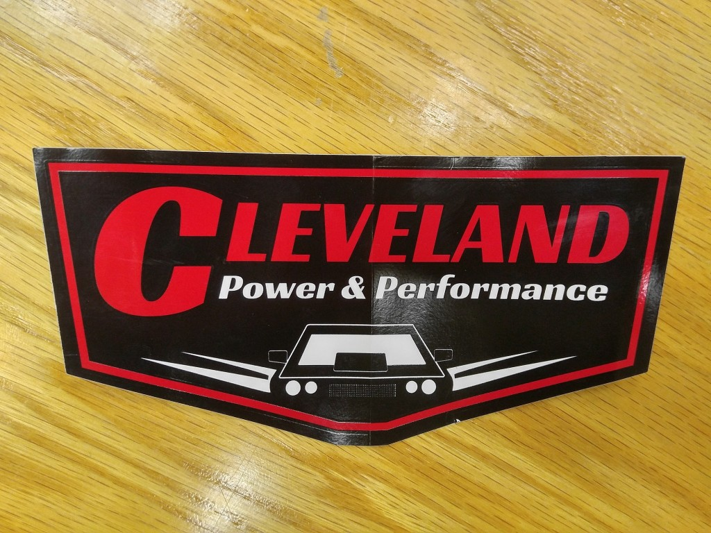 cleveland power and performance retro logo decal sticker (2)