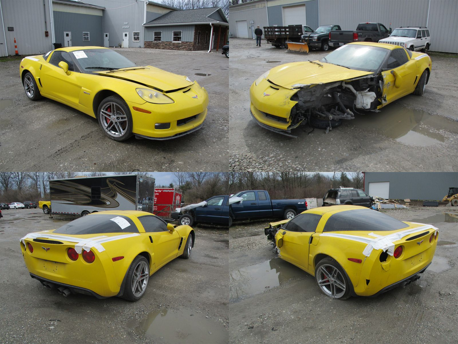 2008 yellow chevrolet corvette c6 z06 cleveland power. Black Bedroom Furniture Sets. Home Design Ideas