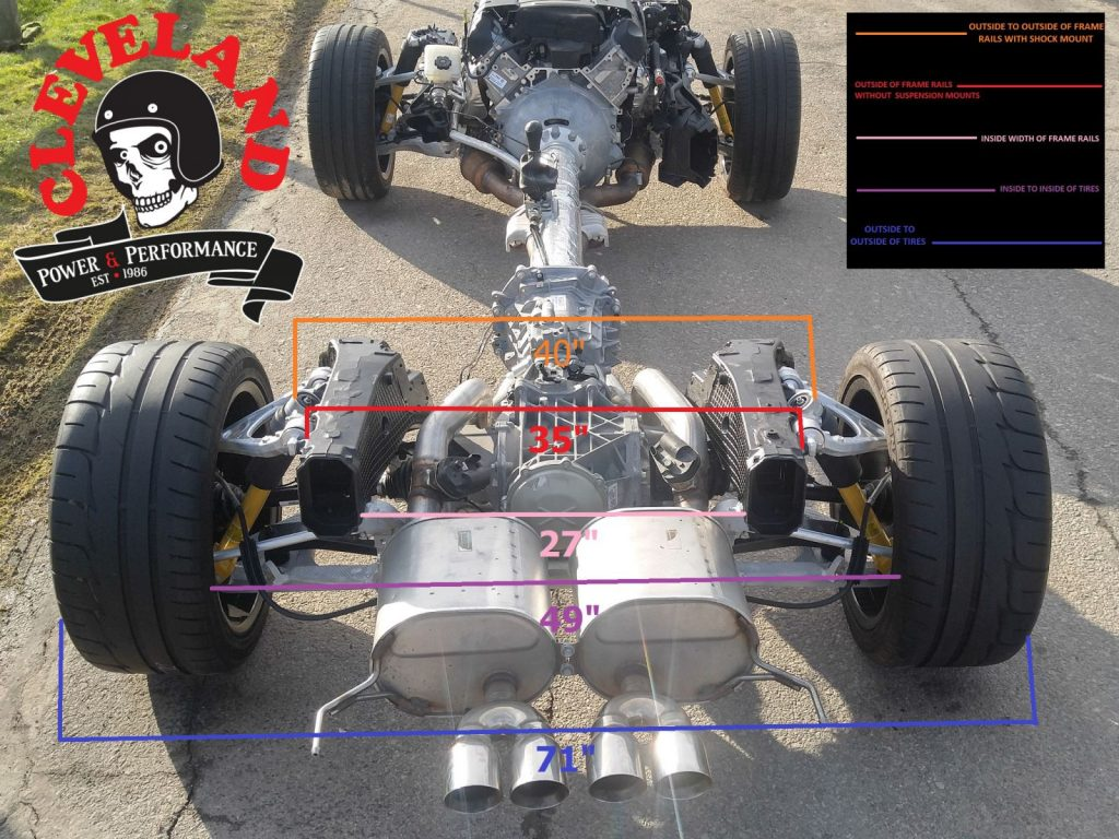 Corvette Rolling Chassis Measurements - Cleveland Power
