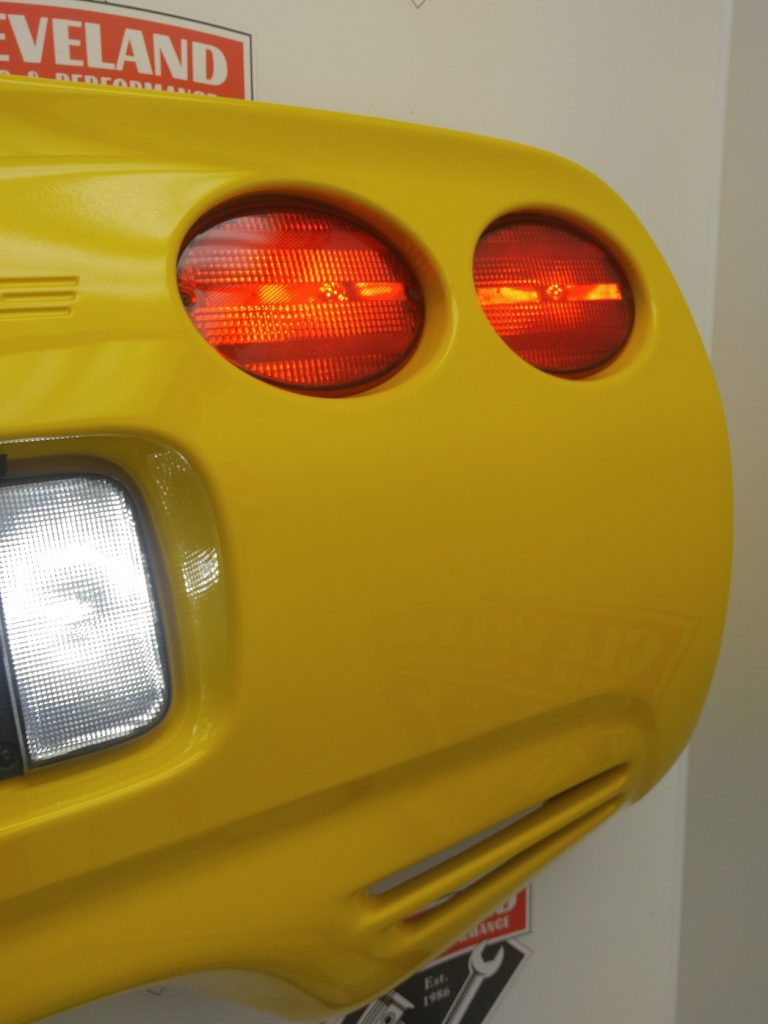 C5 Corvette Millennium Yellow Rear Bumper Lit Custom Wall Art ...