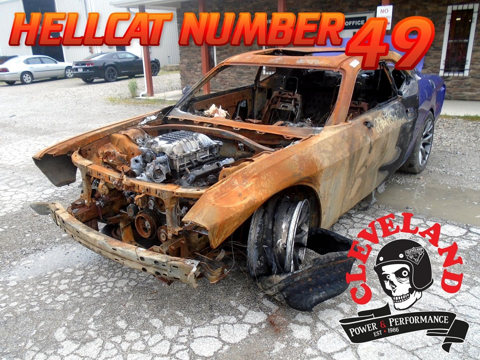 Wrecked Hellcat Arrivals - Cleveland Power & Performance