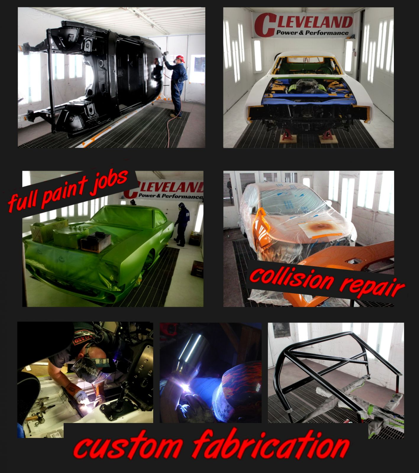 Cleveland Power & Performance Body Shop full paint jobs, Classic vehicle restoration, collision repair custom fabrication