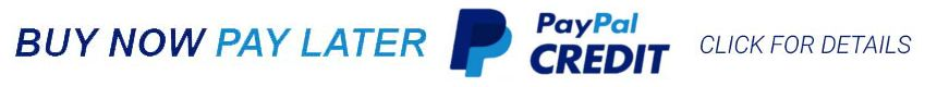 We accept paypal credit as payment with online purchases, click to learn more about paypal credit.