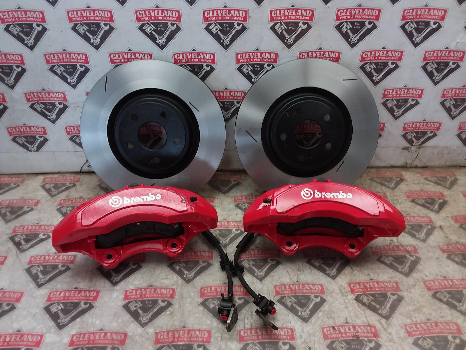 2014 2019 Grand Cherokee Srt Oem Front Brembo Calipers Rotors Brake Upgrade Red Cleveland Power Performance